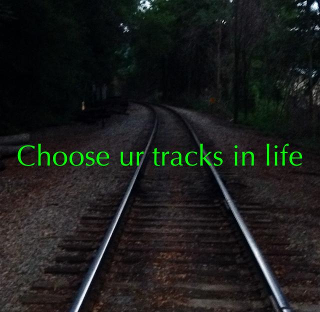 Choose ur tracks in life