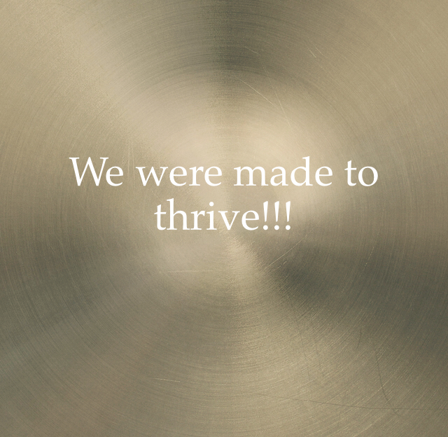 We were made to thrive!!!