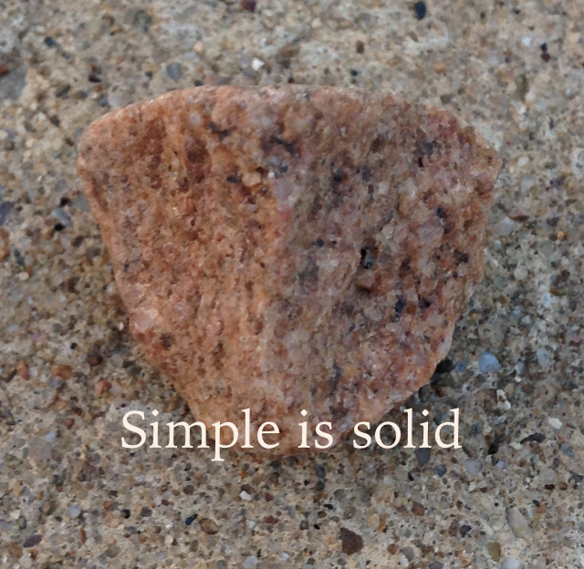 Simple is solid