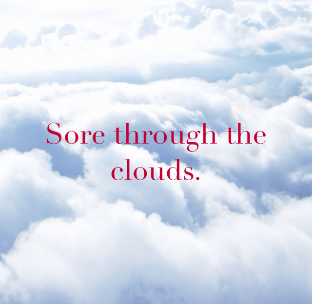 Sore through the clouds.