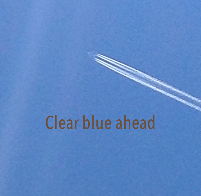 Clear blue ahead