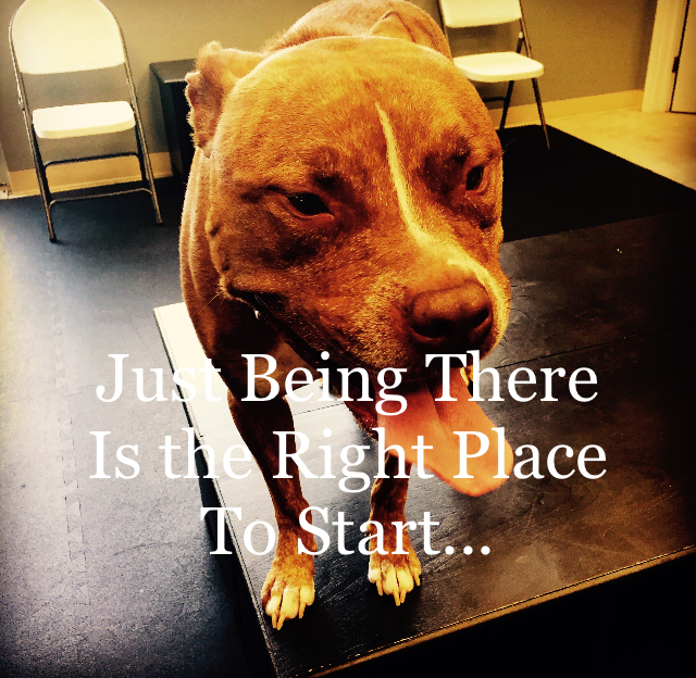 Just Being There Is the Right Place To Start...
