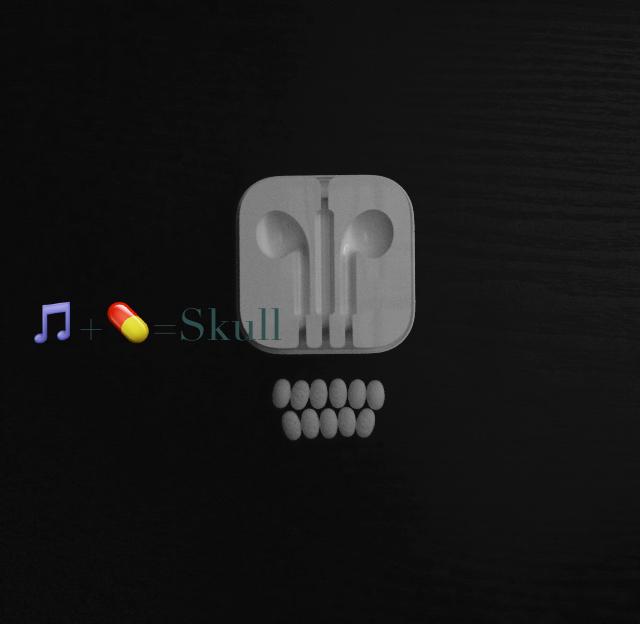 🎵+💊=Skull