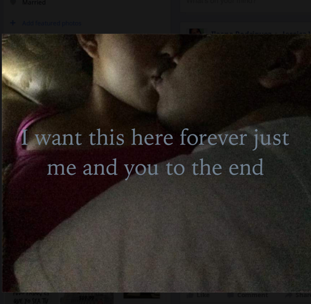 I want this here forever just me and you to the end