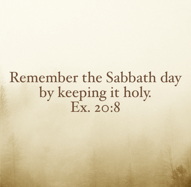 Remember the Sabbath day by keeping it holy.  Ex. 20:8