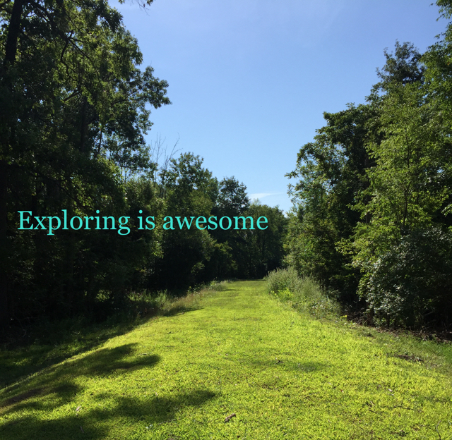 Exploring is awesome