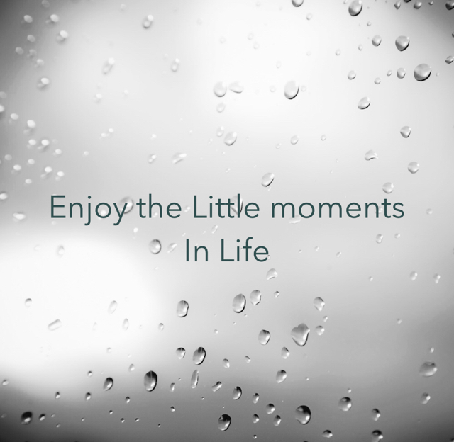 Enjoy the Little moments  In Life