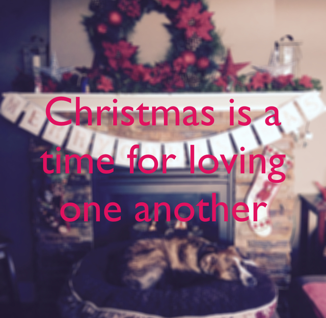 Christmas is a time for loving one another