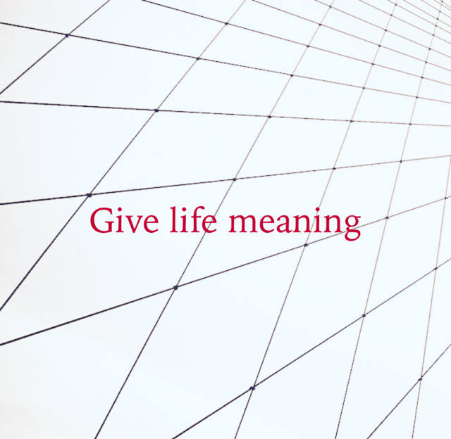 Give life meaning