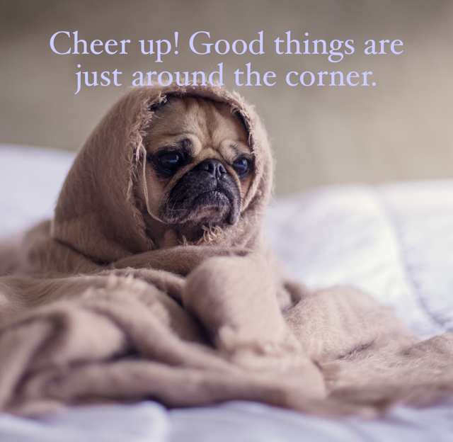Cheer up! Good things are just around the corner.