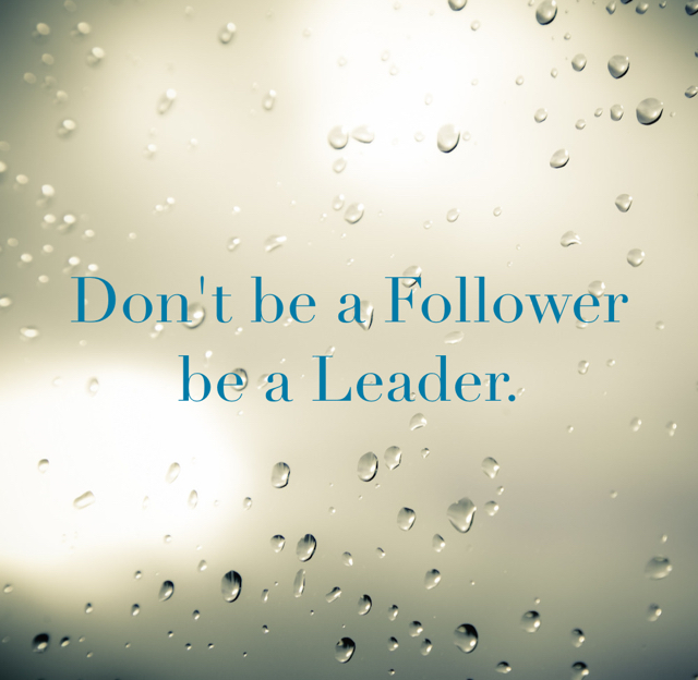 Don't be a Follower be a Leader.