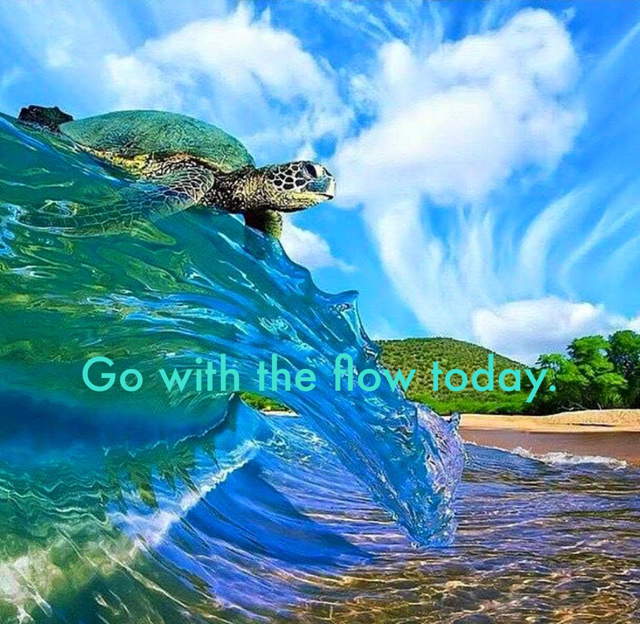 Go with the flow today.