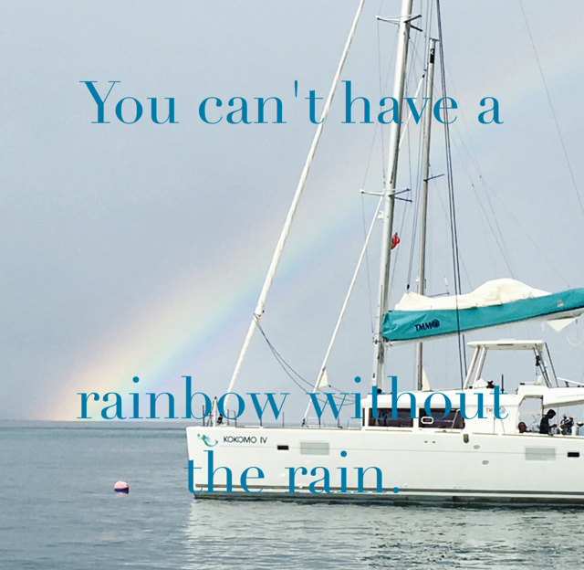 You can't have a  rainbow without the rain.