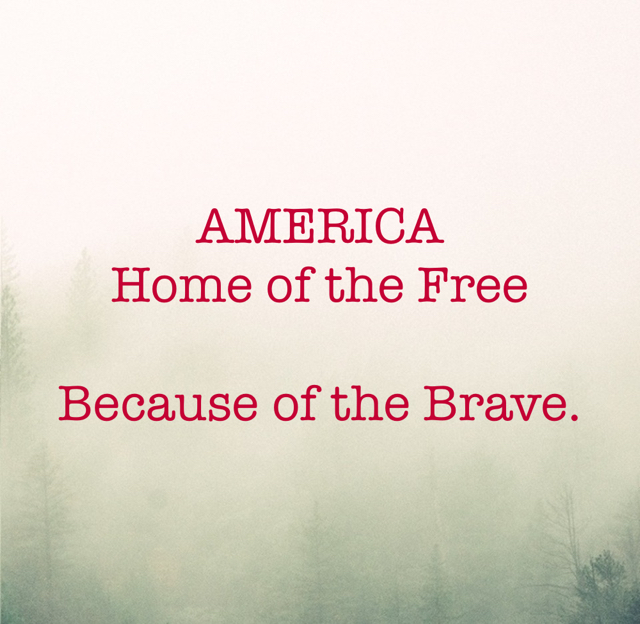 AMERICA Home of the Free Because of the Brave.