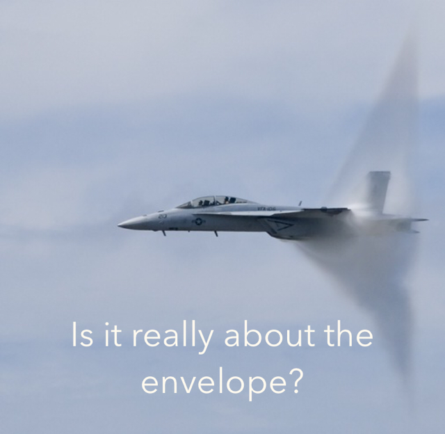Is it really about the envelope?