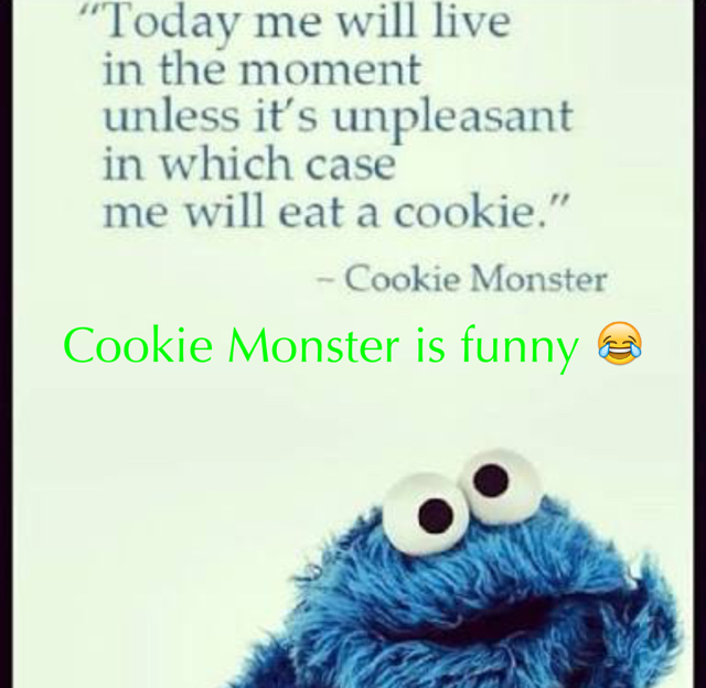 Cookie Monster is funny 😂