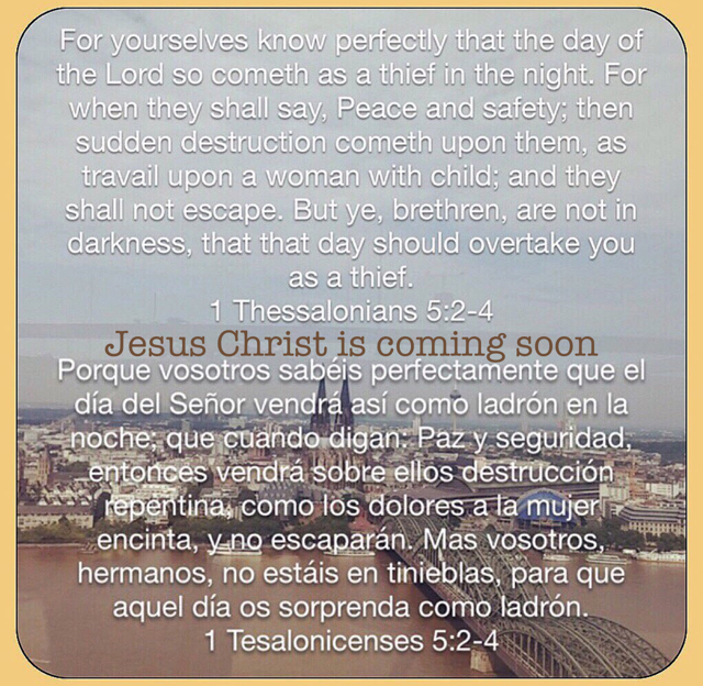 Jesus Christ is coming soon