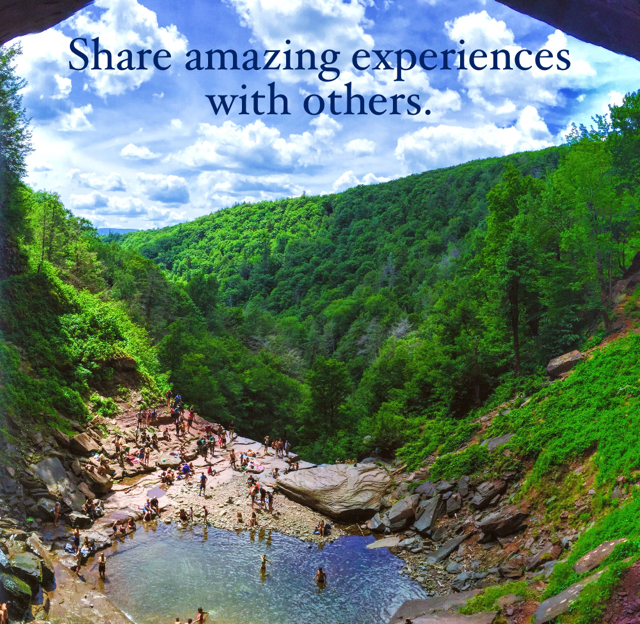 Share amazing experiences with others.