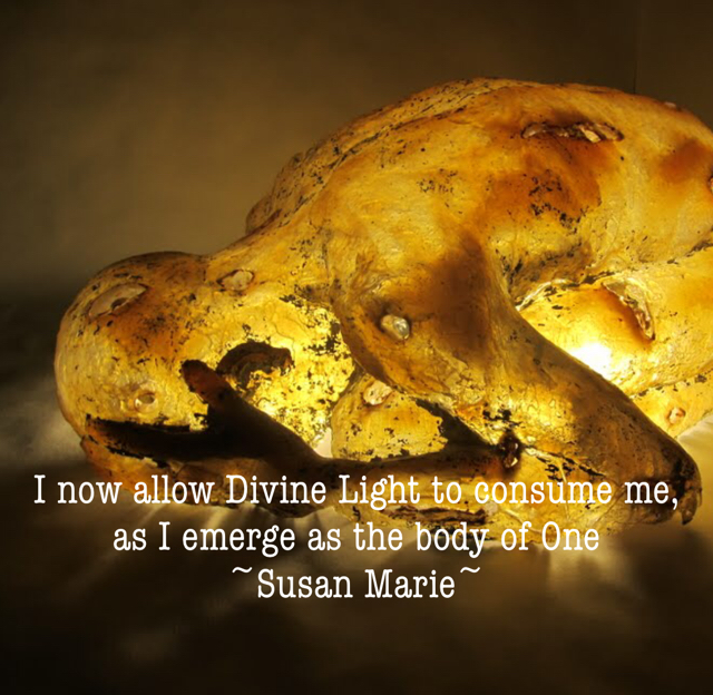 I now allow Divine Light to consume me, as I emerge as the body of One  ~Susan Marie~