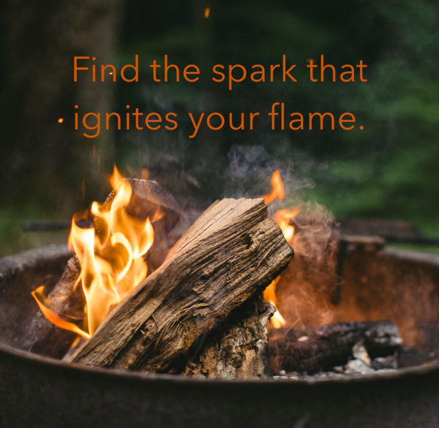 Find the spark that ignites your flame.