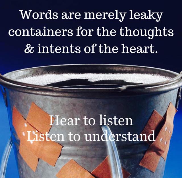 Hear to listen Listen to understand