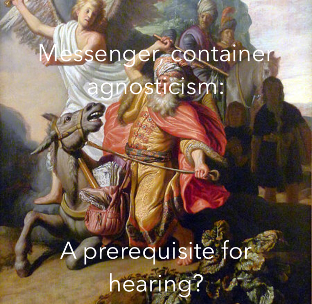 Messenger, container agnosticism:  A prerequisite for hearing?