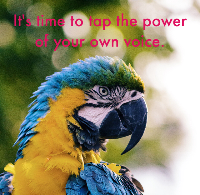 It's time to tap the power of your own voice.