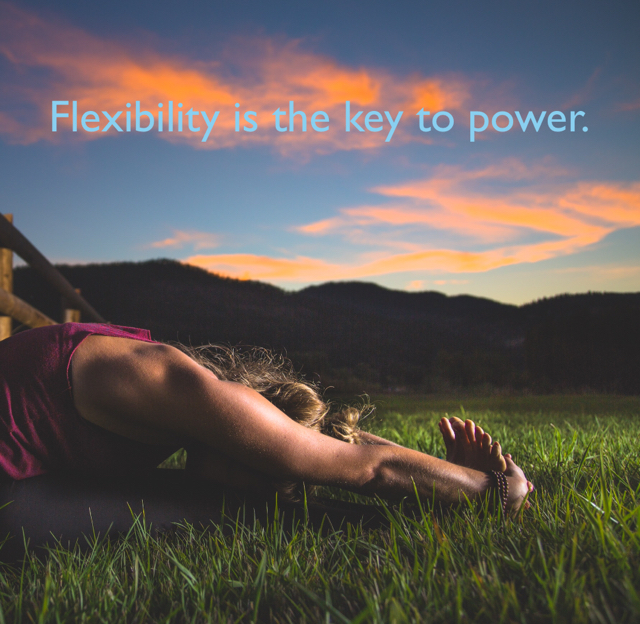 Flexibility is the key to power.