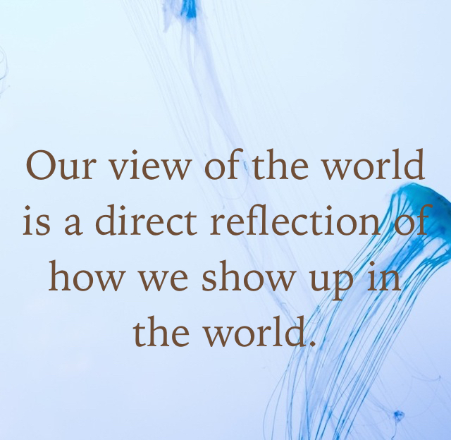 Our view of the world is a direct reflection of how we show up in the world.