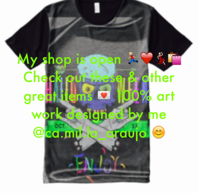 My shop is open 🏃🏼❤️💃🏻🛍 Check out these & other great items 💌 100% art work designed by me @ca.mil.la_araujo 😊