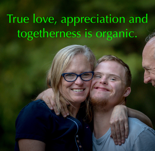 True love, appreciation and togetherness is organic.