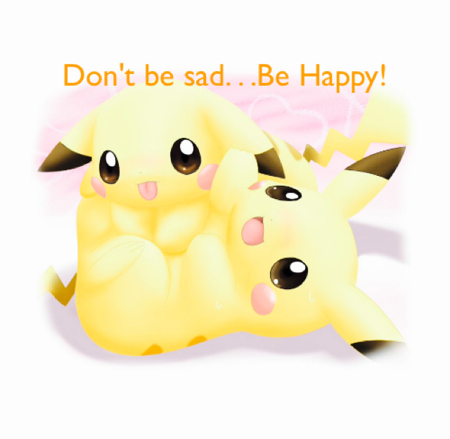 Don't be sad. . .Be Happy!