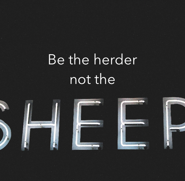 Be the herder not the