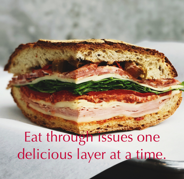 Eat through issues one delicious layer at a time.