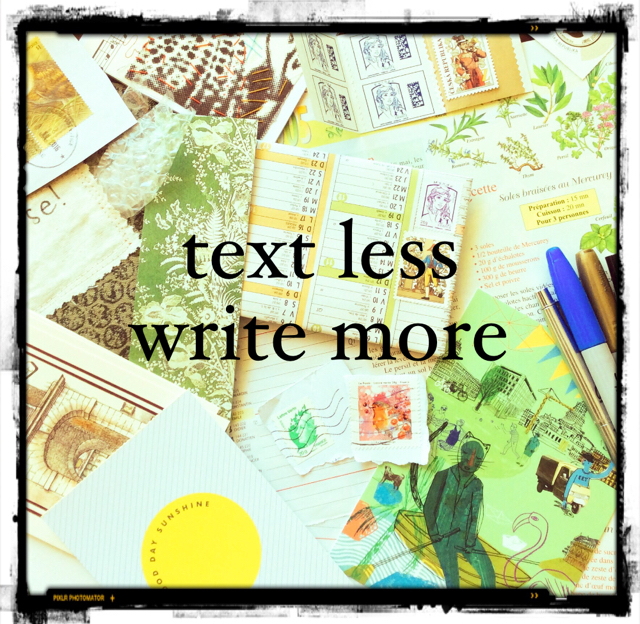 text less  write more