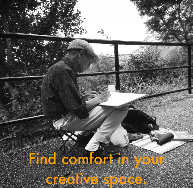 Find comfort in your creative space.