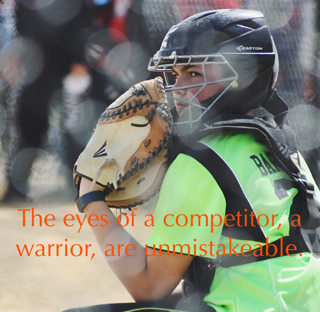 The eyes of a competitor, a warrior, are unmistakeable.