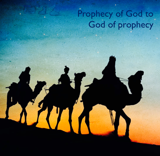 Prophecy of God to God of prophecy
