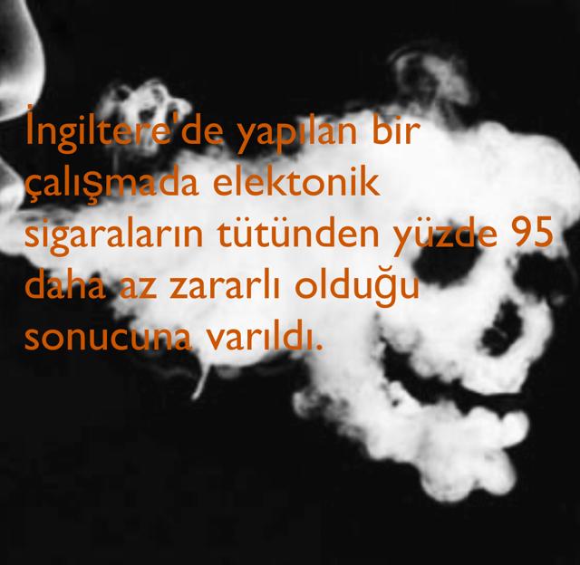 İngiltere'de yapılan bir çalışmada elektonik sigaraların tütünden yüzde 95 daha az zararlı olduğu sonucuna varıldı.