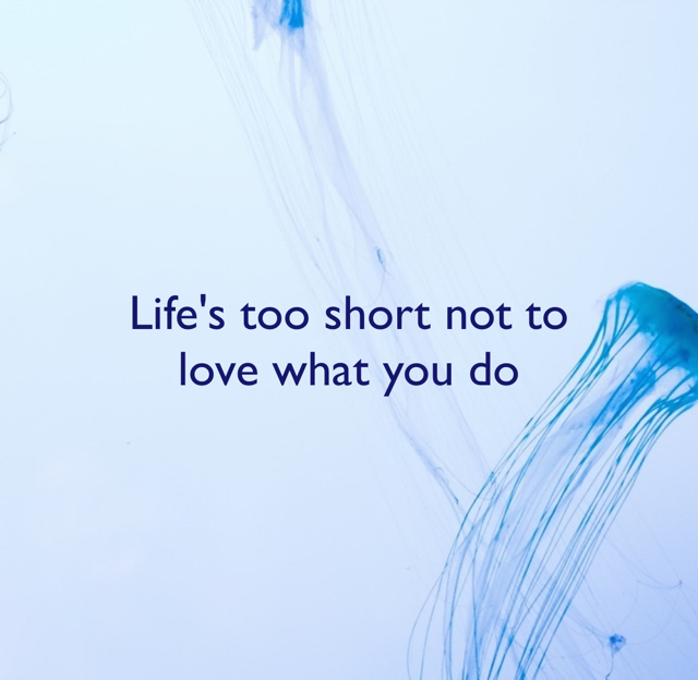 Life's too short not to  love what you do