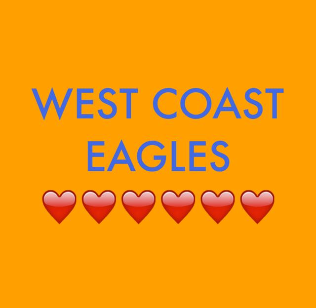 WEST COAST EAGLES ❤️❤️❤️❤️❤️❤️