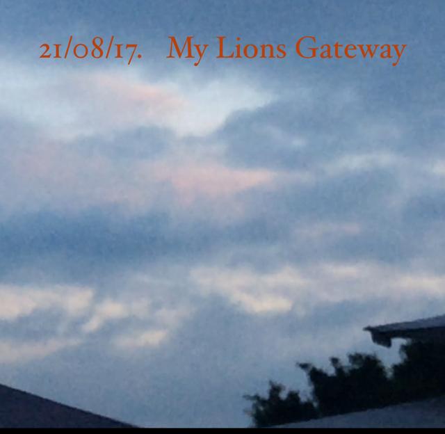 21/08/17.   My Lions Gateway