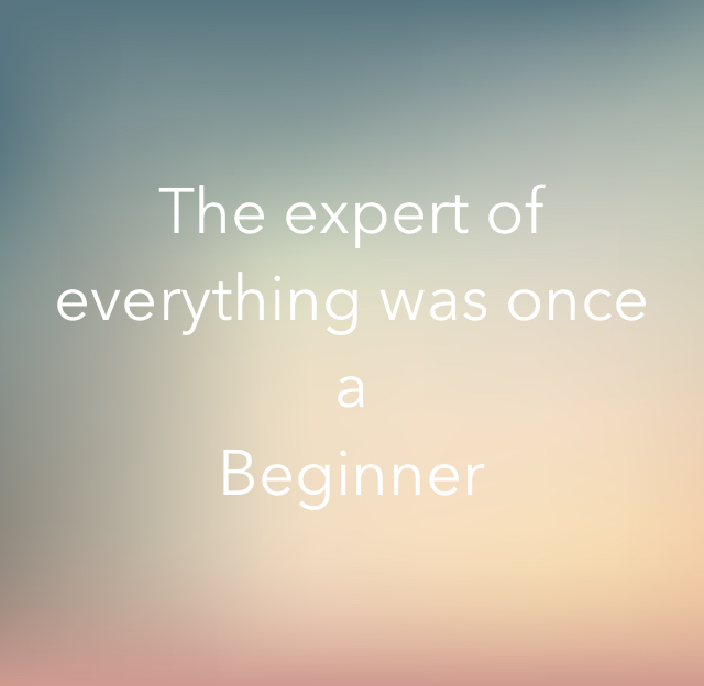 The expert of everything was once a Beginner