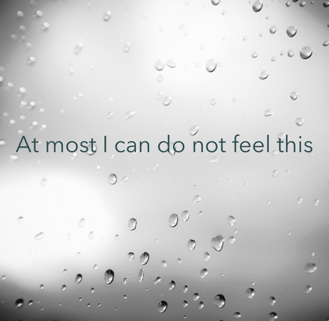 At most I can do not feel this
