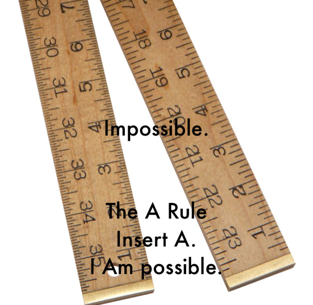 Impossible. The A Rule Insert A. I Am possible.