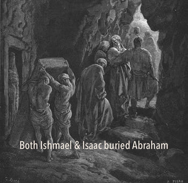 Both Ishmael & Isaac buried Abraham