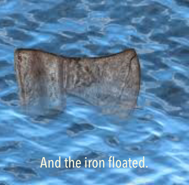 And the iron floated.