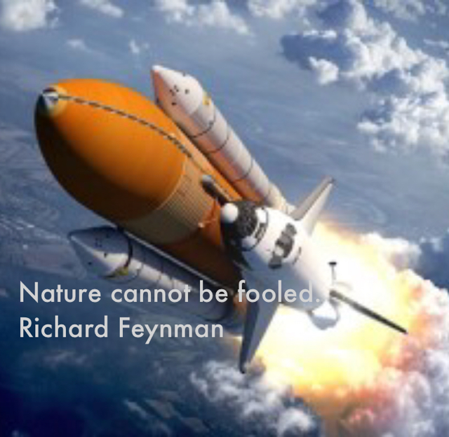 Nature cannot be fooled. Richard Feynman
