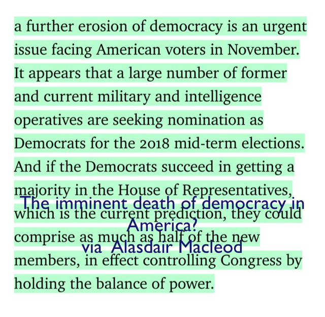 The imminent death of democracy in America? via  Alasdair Macleod