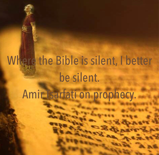 Where the Bible is silent, I better be silent. Amir Tsarfati on prophecy.